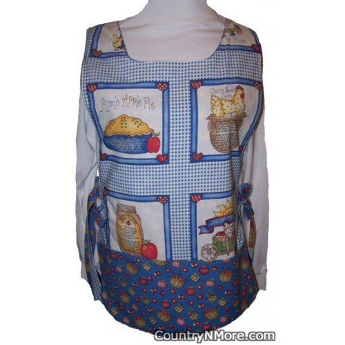 country recipe apron