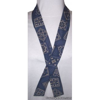 blue country bandanna neck cooler hot weather