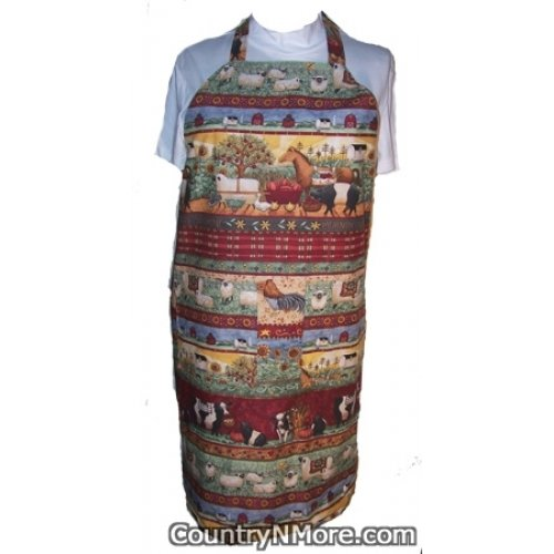 country life bbq apron