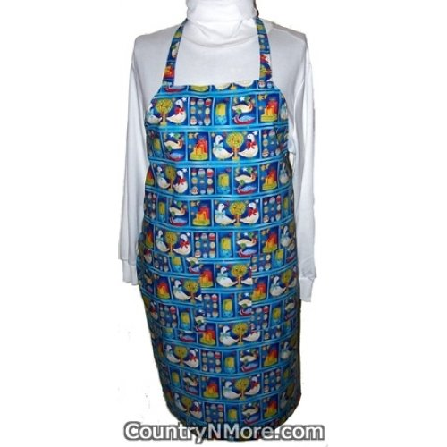 christmas ornament lights reversible bbq apron