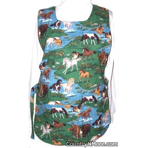 horse country reversible cobbler apron