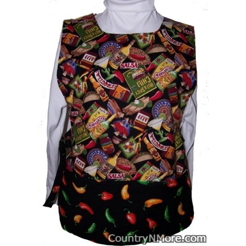 chili pepper mexican food reversible cobbler apron