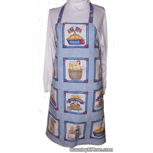 country recipe bbq apron