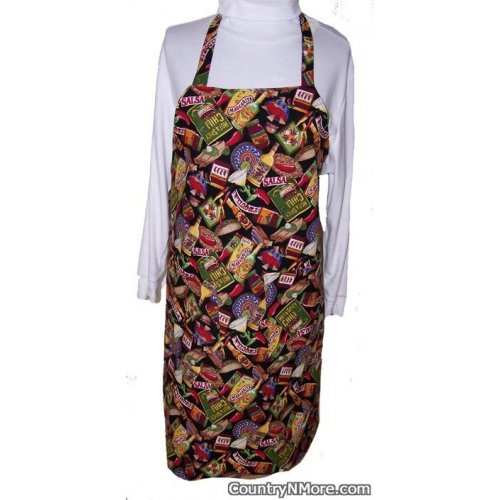 mexican food chili pepper bbq apron