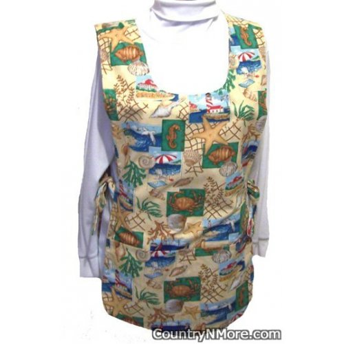 sea life lighthouse reversible cobbler apron