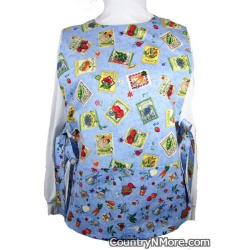 gardening seed packet reversible cobbler apron