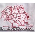 embroidered rooster kitchen towels set 7