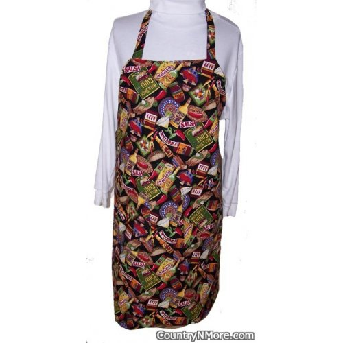 chili pepper mexican food bbq apron