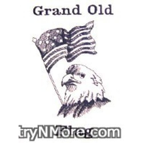 embroidered americana eagle grand old flag tea towel