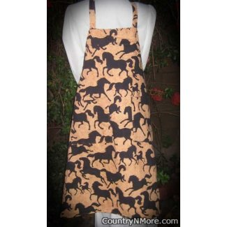 horse silhouette southwestern reversible bbq apron