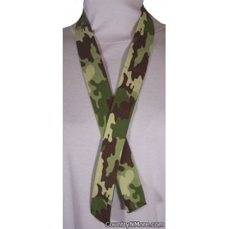 camo green brown camouflage neck cooler hot weather