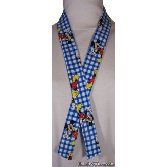mickey mouse plaid neck cooler hot weather