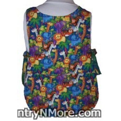 colorful animal reversible cobbler apron