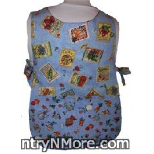 gardening seed packet girls reversible cobbler apron