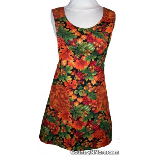 beautiful fall farm life reversible vintage apron