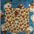 country snowman rustic stars reversible vintage apron