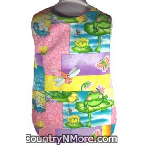 sunny bugs frogs girls cobbler apron