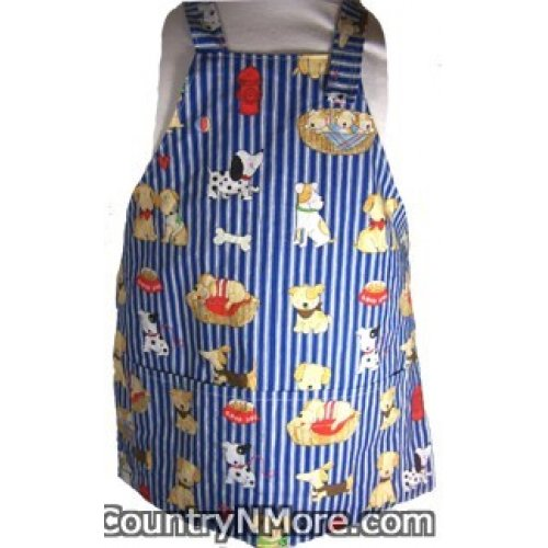 doggie toddler bbq apron