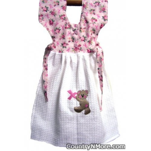 pink ribbon bear oven door dress