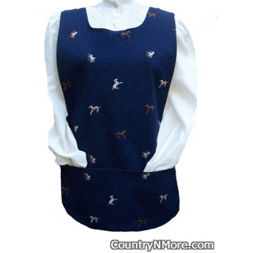 embroidered horse denim bandana cobbler apron