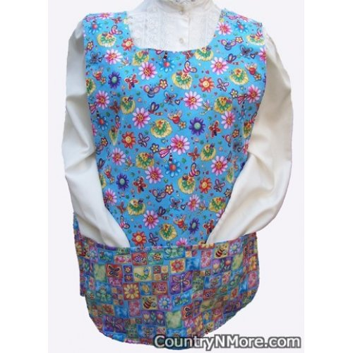 cute butterflies flowers cobbler apron