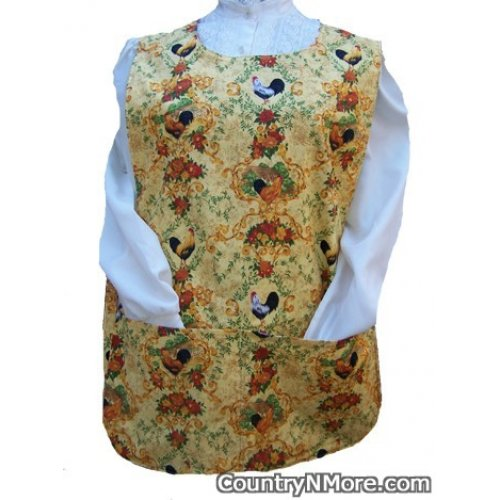 rooster sunflower reversible cobbler apron