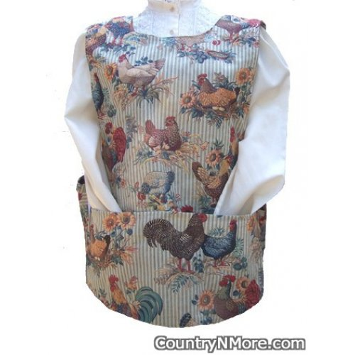 chickens roosters cobbler apron