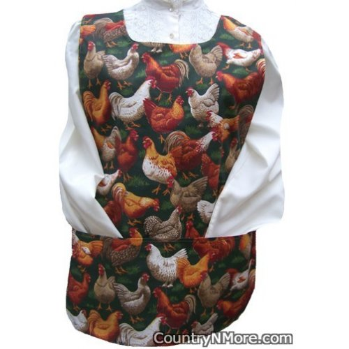 chicken sunflower reversible cobbler apron