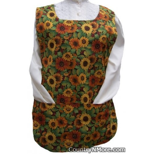 sunflowers chickens roosters cobbler apron