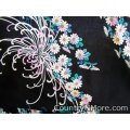 gorgeous black floral vintage apron plus size