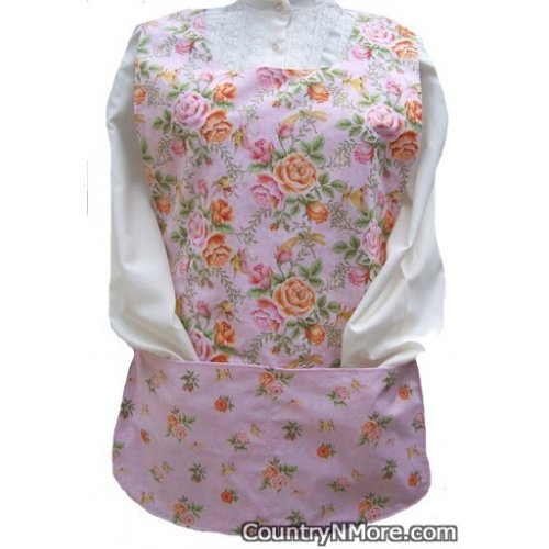 beautiful rose butterfly dragonfly cobbler apron
