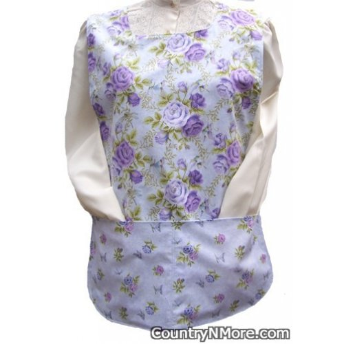 lavender purple rose cobbler apron