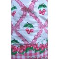 cherries ribbon vintage apron