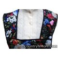 gorgeous flowers black vintage apron