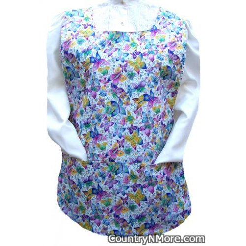 beautiful butterflies flower cobbler apron