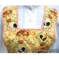 gorgeous rooster vintage apron