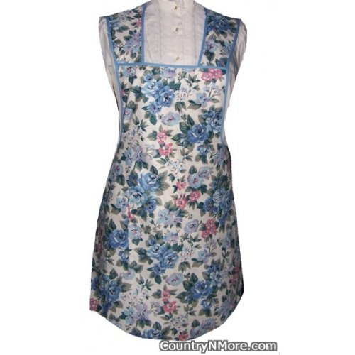 gorgeous rose flower vintage apron