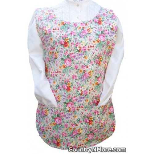 cows flowers cobbler apron