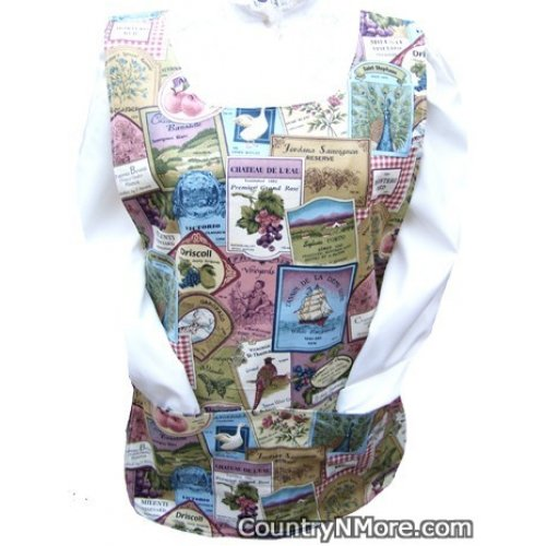 wine country cobbler apron lg xl