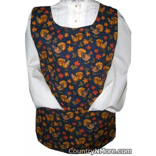 year long rooster cobbler apron