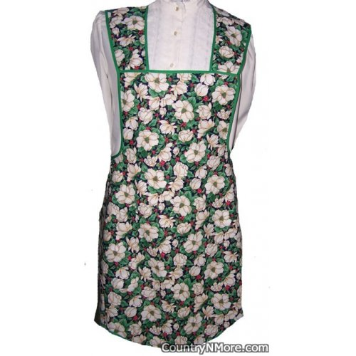 christmas flower holly vintage apron