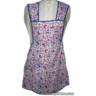 patriotic butterfly vintage inspired apron