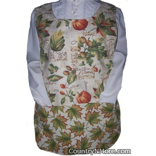 fall pumpkins leaves cobbler apron