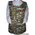 cows roosters pigs sunflower cobbler apron