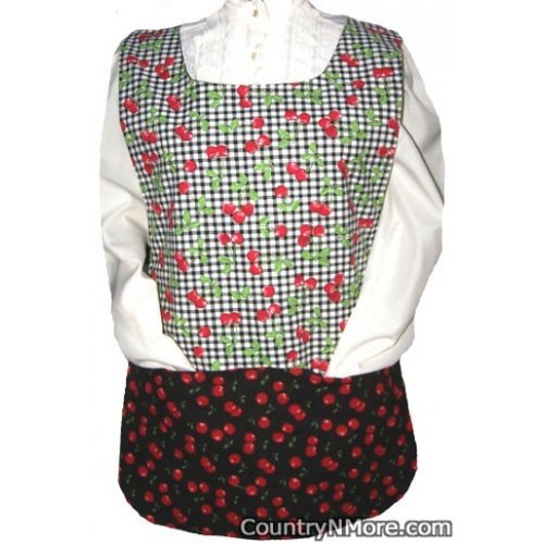 delicious cherries cobbler apron