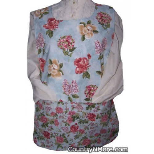 water color flower cobbler apron