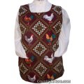 gorgeous rooster flower cobbler apron