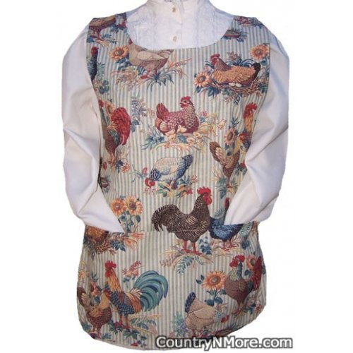 chickens roosters baby chicks cobbler apron