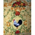 colorful rooster sunflower cobbler apron