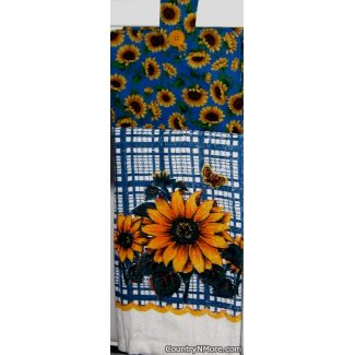 butterfly sunflower oven door towel